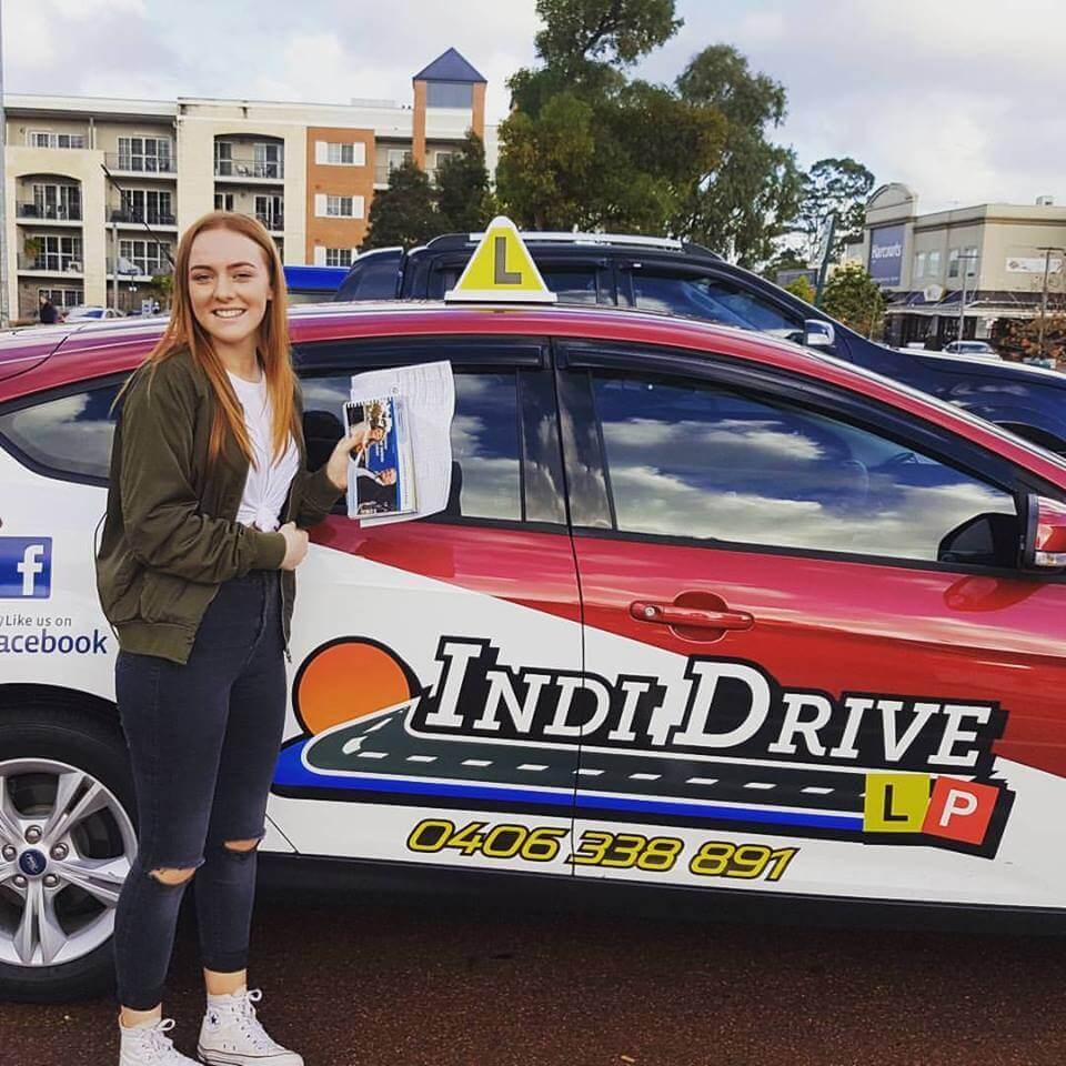 A happy Indi Drive student